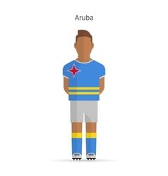 Aruba football player Soccer uniform vector image