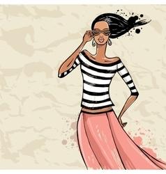Beautiful Fashion woman vector