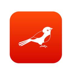 bird icon digital red vector image