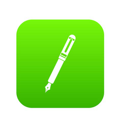 black fountain pen icon digital green vector image