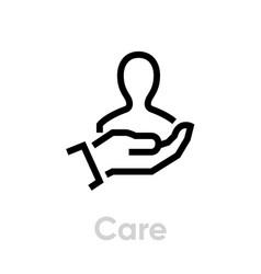 Care customer icon editable line vector