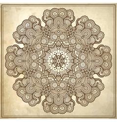 Circle design on grunge background vector