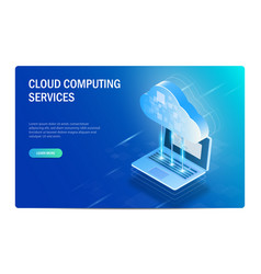 cloud computing services isometric concept the vector image