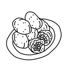 Combro icon doodle hand drawn or outline icon vector