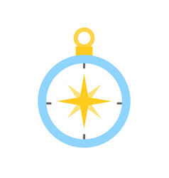 Compass direction icon flat design vector