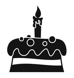cream cake icon simple style vector image