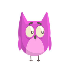 cute little funny purple chick bird standing vector image