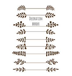 decorative borders hand drawn vintage border set vector image