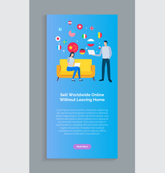 delivery booklet sell worldwide online vector image