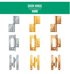 door hinge set classic and industrial vector image