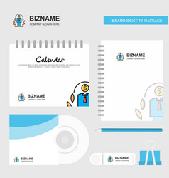 employee logo calendar template cd cover diary vector image