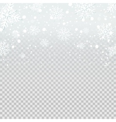 Falling snow backdrop on transparent background vector