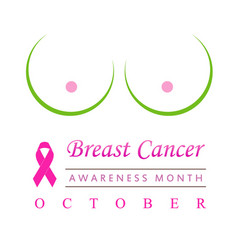 fight breast cancer- breasts drawn with dots vector image