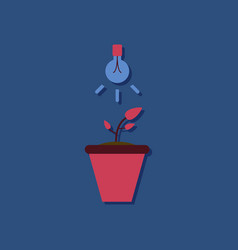 Flat icon design collection plant and light in vector