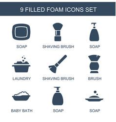 foam icons vector image