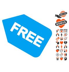 Free sticker icon with valentine bonus vector