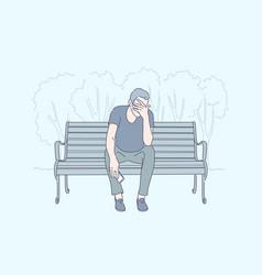 Frustration emotional stress depression concept vector