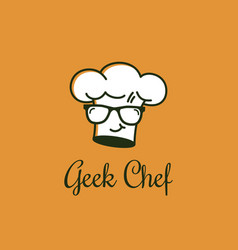 geek chef logo vector image