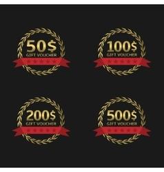 Gift voucher badge set vector