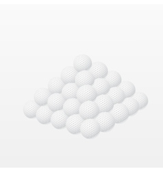 Golf balls made a pyramid vector image