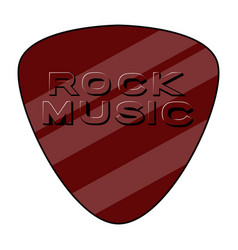 Guitar pick with text rock music style vector