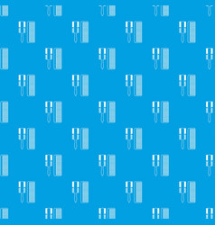 hair comb pattern seamless blue vector image