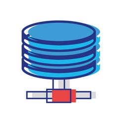 hard disk technology data storage vector image