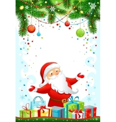 Holiday background with Santa Claus vector image