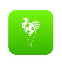 holiday balls icon digital green vector image