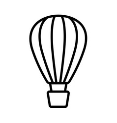 Hot air balloon icon on white background vector