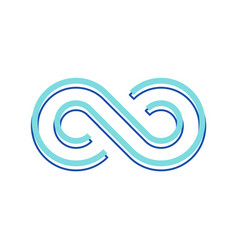 infinity symbol repetition and unlimited vector image