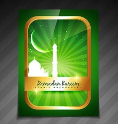Islamic brochure deesign vector