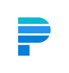 letter p logo icon design concept vector image