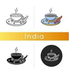 Masala chai icon vector
