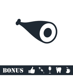 Meat icon flat vector image vector image
