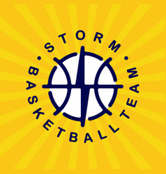 modern professional basketball logo for sport team vector image