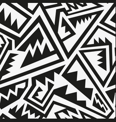 monochrome tribal pattern vector image