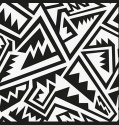 Monochrome tribal pattern vector