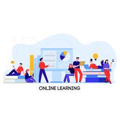Online learning banner vector