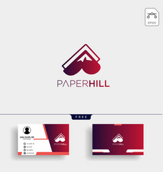 paper mountain creative logo template with vector image