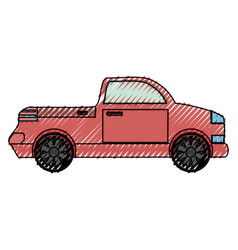 Pick up vehicle vector