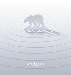 Polar bear help vector image
