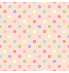 Polka dots seamless pink background or pattern vector