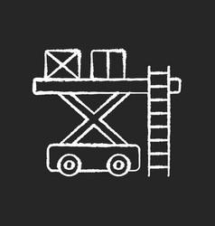 Ramp services chalk white icon on black background vector