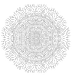 Round ethnic pattern vector