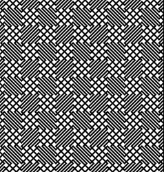 Seamless monochrome zig zag grid pattern vector image