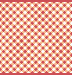 seamless table cloth texture with diagonal lines vector image