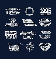 Set of badges college rugby team vector