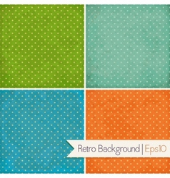 Set of vintage backgrounds Polka dot vector