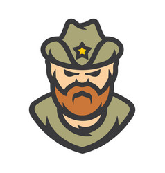 Sheriff policeman cartoon vector